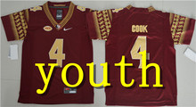 Nike 2017 Youth Florida State SeminolesDeion Sanders 2 College Boxing Jersey - Red Dalvin Cook 4 Jameis Winston 5