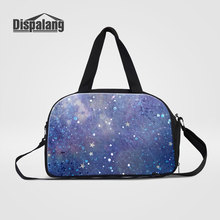 Dispalang Universe Space Design Travel Bag Organizer For Colthes Galaxy Stars Printed Women Shoulder Travel Duffle Bags Handbags(China)