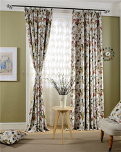 2016 new country style curtains 95% blackout curtain made in china best selling