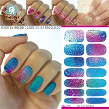 New Nail Art Stickers Mysterious Blue Ocean Design Water Transfer Nail Sticker 3d Manicure Minx Beauty Products Foil Decals(China)