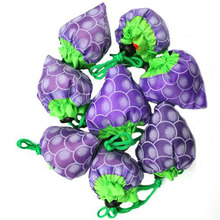 New Special 10 Pieces Shopping Bags Grapes shape after fold-able Eco shopping storage bag Load-bearing about 20kg