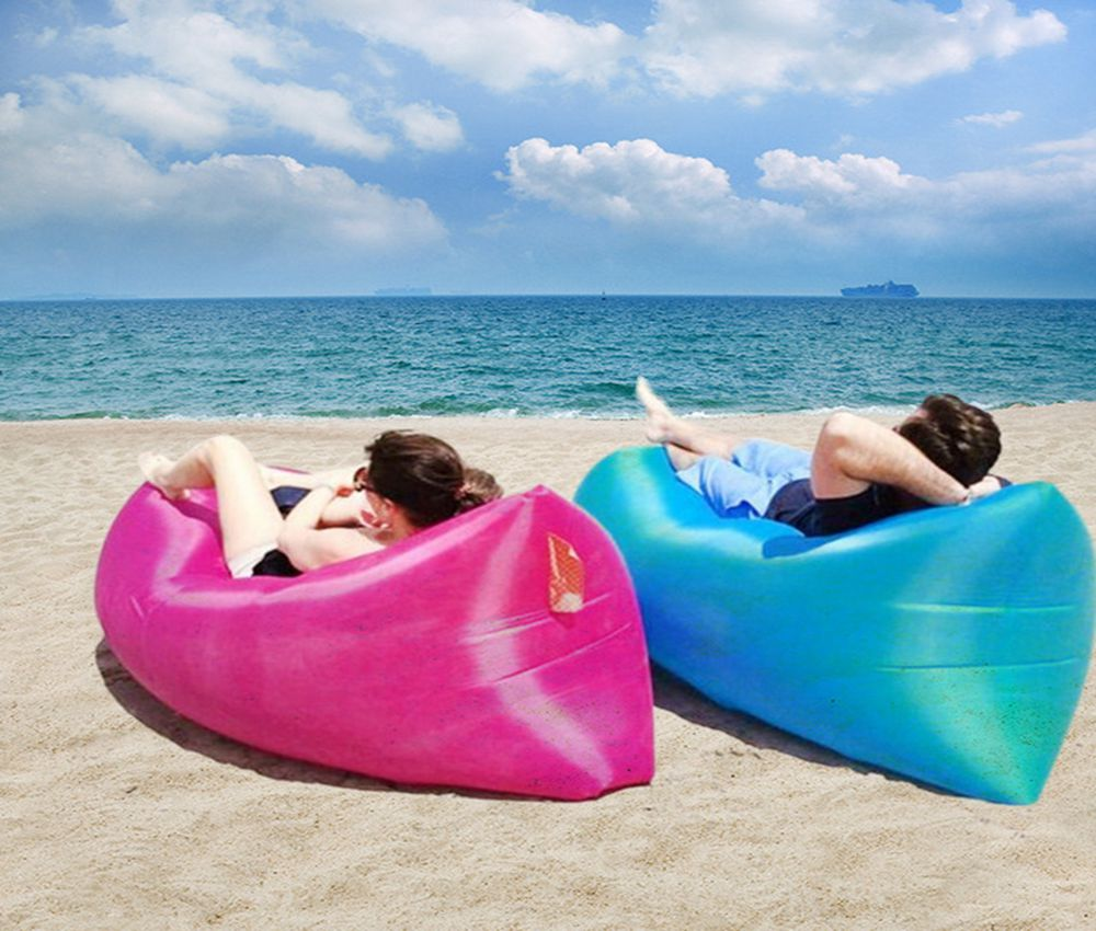 Inflatable Air Sofa Air Bed Waterproof Sleeping Bag Camping Beach Sofa Lounger Bed High Quality Lazy Bags Undertake 200kgs<br>