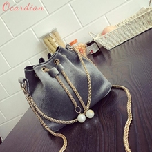 OCARDIAN High quality 2017 Luxury Brands Women's Handbags Fashion Solid Handbag Drawstring Shoulder Bag Tote Ladies Purse 170524(China)