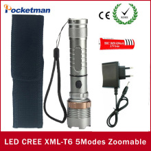 New Style linterna cree xm-l t6 LED Torch High Power rechargable 18650 battery lampe de poche flashlight