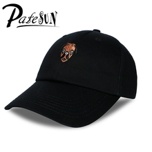 PATESUN 2017 Bulldog Animal Cartoon Image Embroidery Baseball Cap Cotton Male High Quality Dad Hat casquette femme marque luxe