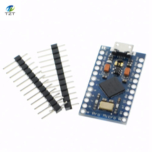 5pcs New Pro Micro for arduino ATmega32U4 5V/16MHz Module with 2 row pin header For Leonardo in stock . best quality