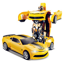 Free shipping TT661 671 Robort Bumblebee Transformation Remote Control RC Car Off-Road RC Vehicle RC toys vs wltoys a959 k949(China)