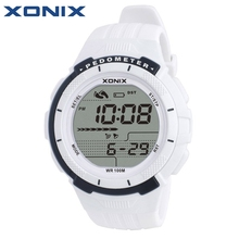 XONIX Pedometer Calories Women Sports Watches Waterproof 100m Digital Watch Running Swimming Diving Wristwatch Montre Femme(China)