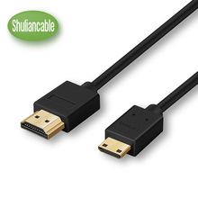 Shuliancable Ultra High-Speed Mini HDMI to HDMI 1.4v Cable -1m 1.5m 2m 3m 5m( Supports Ethernet, 1080P, 3D, and Audio Return )