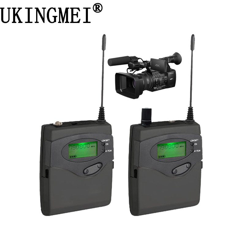 DSLR Camera Wireless Lavalier Lapel Microphone System for Outdoor Recording, Interview, Video Shooting, Broadcast Microphone