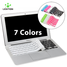 For MacBook Air 11 inch Ultrathin Silicone Colorful Keyboard Sticker Cover US EU Version Protector Skin Laptop klavye membrane