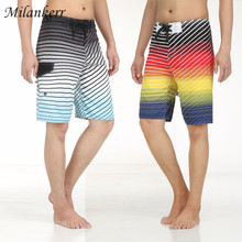 Men Board shorts Pant Summer Quick-drying Shorts Beach Striped Sport Board Shorts Surfing Swim Wear Swimwear Short