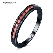 Vintage Black Gun filled red pink purple Opal Rings for Women Wholesale Fashion Jewelry Party Cocktail Ring For Women DR1706(China)