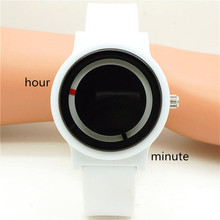 New arrived luminous circle Concept of watches for women man fashion gift dress wristwatches lover's casual promotion watches