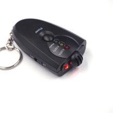 Professional Car Alcohol Tester High Accuracy Detector Alcohol Alkohol Detector Breathalyzer Alcotest LED Flashlight Keychain(China)