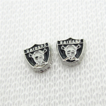 20pcs/lot Oakland Raiders Floating Charms Living Glass Memory Lockets DIY Jewelry Charms NFL Football Sports Charms