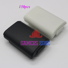 150pcs Replacement AA Battery Back Cover Pack Shell for Xbox 360 Wireless Controller Black Pearl White