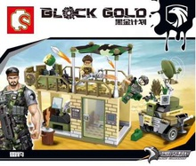 S11676 black gold Radar command at the front Ghost tribe Building Blocks bricks baby Toys children gift