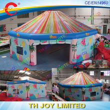 free shipping 6m,8m or 10m outdoor giant inflatable beach bar tent inflatable party event disco dome tent inflatable yurt tent
