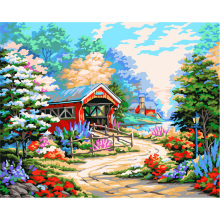 Country road Max Size 60x75cm Frameless Pictures Painting By Numbers DIY Digital Oil Painting On Canvas Home Decoration DIY