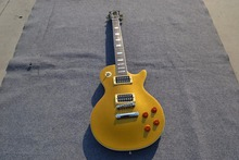 Custom Shop Chinese Guitars LP Standard Gold Finish Electric Guitar Shell Block Inlay Custom guitar Available(China)