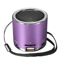 Z12 Cylinder Portable Mini Speaker Amplifier FM Sound Music Radio HIFI Support USB Micro for SD TF Line in Card MP3 Player