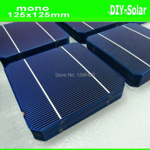 buy 400pcs/lot 18.6% 125mm Mono solar cells 5x5+enough Tabbing Wire and Busbar for making 1000W Power Output Mono Solar Panels