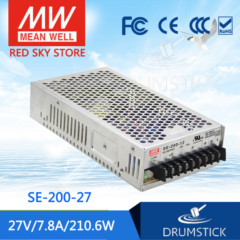best-selling MEAN WELL SE-200-27 27V 7.8A meanwell SE-200 27V 210.6W Single Output Switching Power Supply<br>