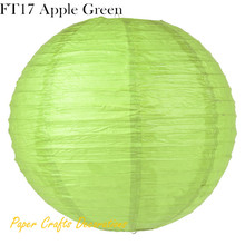 "27 Colors 8""(20cm) 30pcs/lot Apple Green Paper Folding Lantern Ball Hanging Party Decorations Free Shipping(China)"