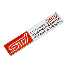 New STI Metal Sticker Car Door Tail Decal STI Emblem Badge Styling for SUBARU LEGACY Forester Outback Rally WRX WRC XV Impreza