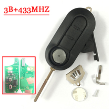 3 Button Remote Key For Fiat Delphin Key PCF7946 Chip 433MHZ