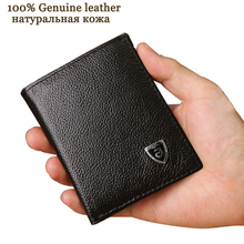 Small wallet men genuine leather purses cowhide mini wallets black and brown quality guarantee !!!
