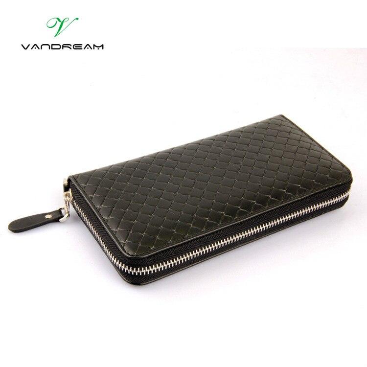 Female Wallet High-grade Woven Pattern Ladies Long Hand Bag Zipper Bag Wholesale Korean Leisure Men Wallets<br><br>Aliexpress