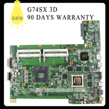 Original for ASUS G74SX motherboard with 3D connector 12 Memory GTX560M 2GB DDR3 4 Ram Slots mainboard 100% working(China)