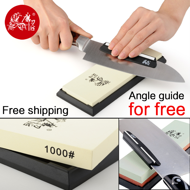TAIDEA 240 1000 3000 5000 Sharpening Stone For Knife 1000 Grit Knife sharpener white corundum whetstone angle guide for free(China (Mainland))