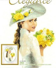 Free Delivery Top Quality Lovely Counted Cross Stitch Kit Alice with Yellow Roses Lady Woman Girl