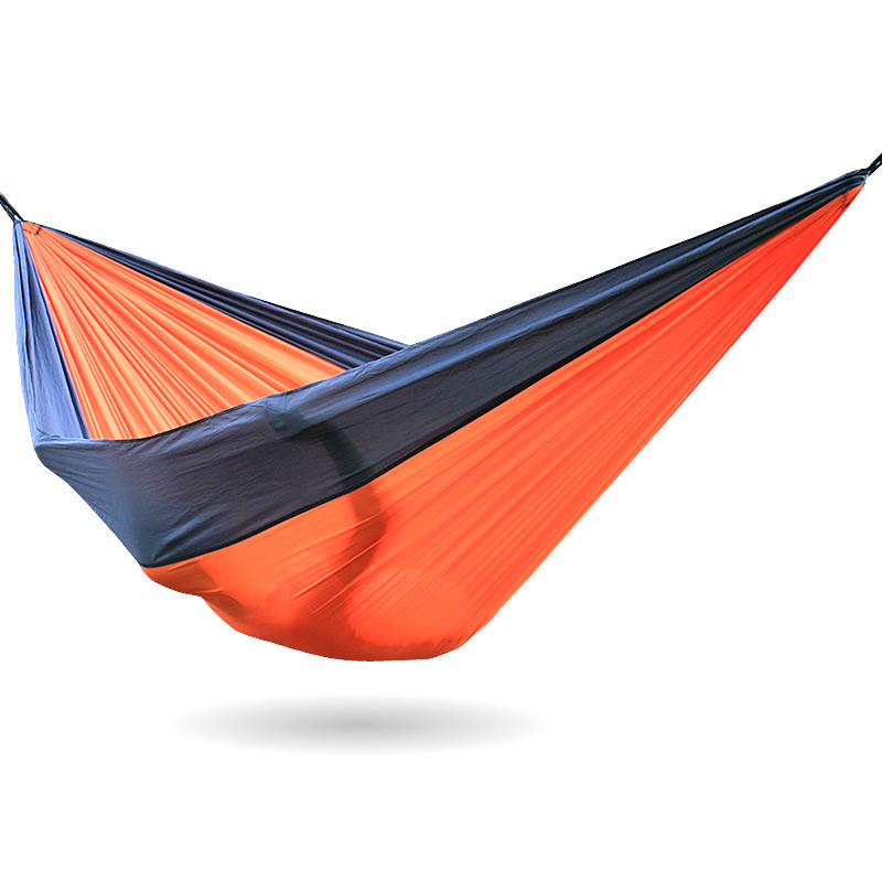 Gray Orange Gray Nylon Hammock 300*200cm Outdoor furniture Orange Color Parachute Hammocks<br>