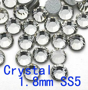 Free Shipping Clear Crystal 1.8mm SS5 1440pcs Flat Back Non Hot Fix Crystal Rhinestone DIY Accessories DIY For Cell Phone(China)