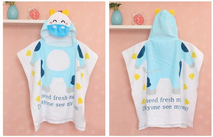 2018 New Hot Cotton Cut Velvet Print Baby Children Bath Towel Bathrobe Cartoon Beach Towel Baby Girl Scarf Bib Bibs Baby