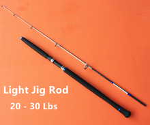 Free Shipping High Quality 1+1 Section Action 20-30lbs Fishing Rod 2.1m Jigging Rods Fishing Rod Jigging
