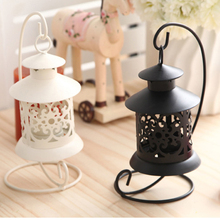 European Style Metal Candle Holder Stand Lantern Wishing Candle Holder Hookah Wedding Decoration Oil Lamps Candlestick QQX10