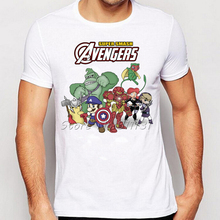 Newest Comic Super Mario Bro Avengers games Design Printed T Shirt Fashion Men Cartoon Short Sleeve Tee tops(China)