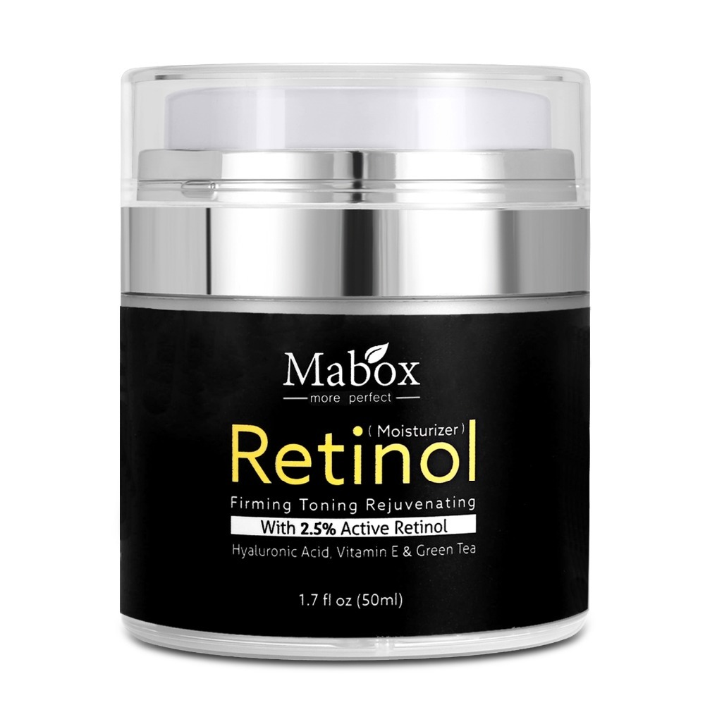 MABOX Retinol 2.5% Moisturizer Face Cream and Eye Hyaluronic Acid Vitamin E Best Night and Day Moisturizing Cream Drop Shipping 9
