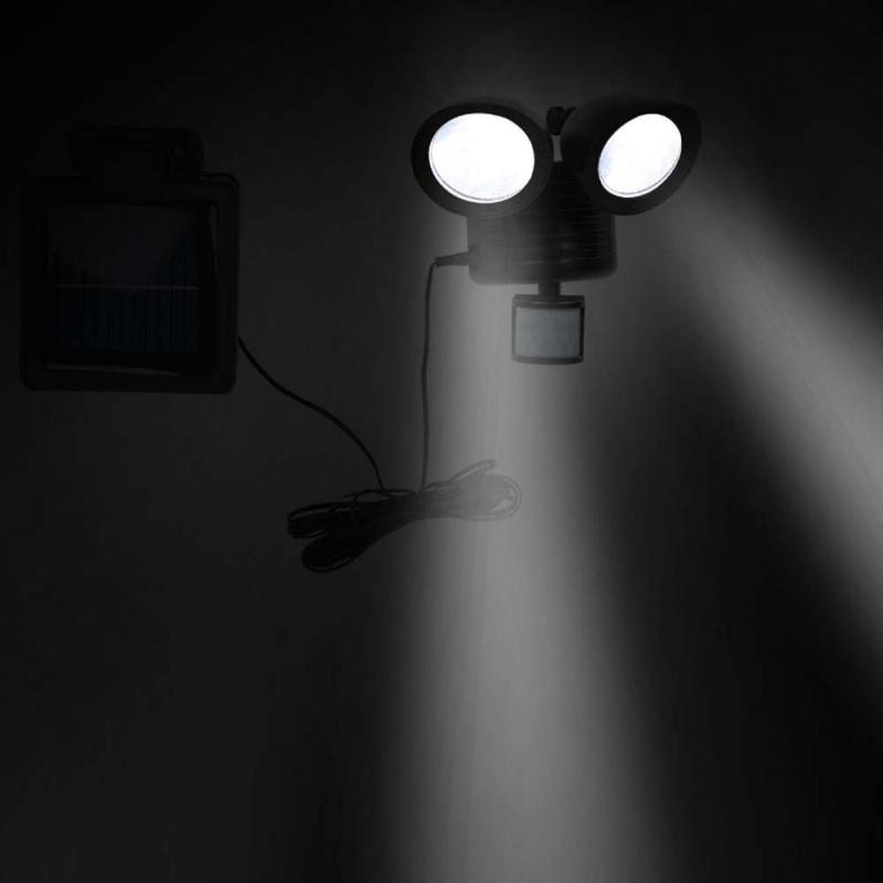 Dual Security Detector Solar Spot Light Motion Sensor Outdoor 22 LED Floodlight<br>
