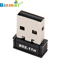 Beautiful Gift New  Mini Wireless 150Mbps USB Adapter WiFi 802.11n 150M Network Lan Card  Wholesale price Jul1