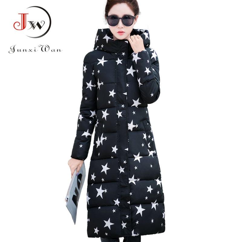2017 New Winter Coat Women Thicken Hooded Warm Cotton-Padded Jacket X-Long Women Parka Winter Jacket L-4XL WC0435Одежда и ак�е��уары<br><br><br>Aliexpress