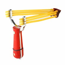New WILD WOLF Alloy Powerful Slingshot Wood Handle Catapult Outdoor Hunting Hunter Sling Shot(China)