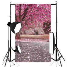Mayitr 3x5ft Flowers Tree Photography Background Springtime Pink Flowers Scenic Photo Backdrop Prop Vinyl