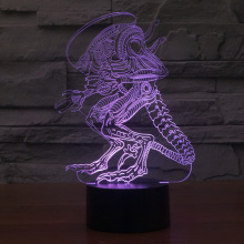 3D Led 26cm Creative Atmosphere Table Lamp Toy Deadpool/Alien/Predator/Hulk 7 color Gradient Visual Perspective Lights Lnt_002