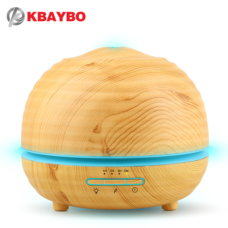 300ml Air Humidifier Essential Oil Diffuser Aroma Lamp Aromatherapy Electric Aroma Diffuser Mist Maker for Home-Wood 300ml<br>